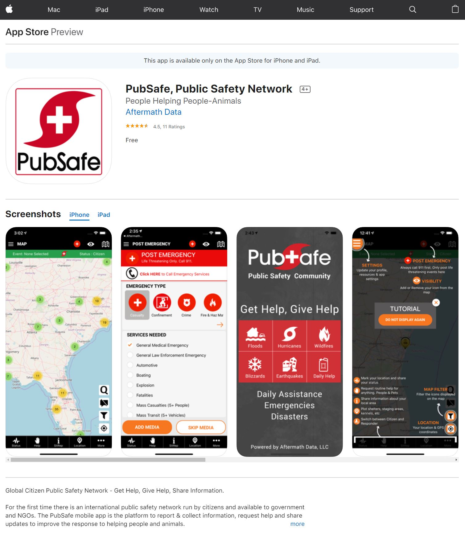 PubSafe Public Safety Community Mobile App