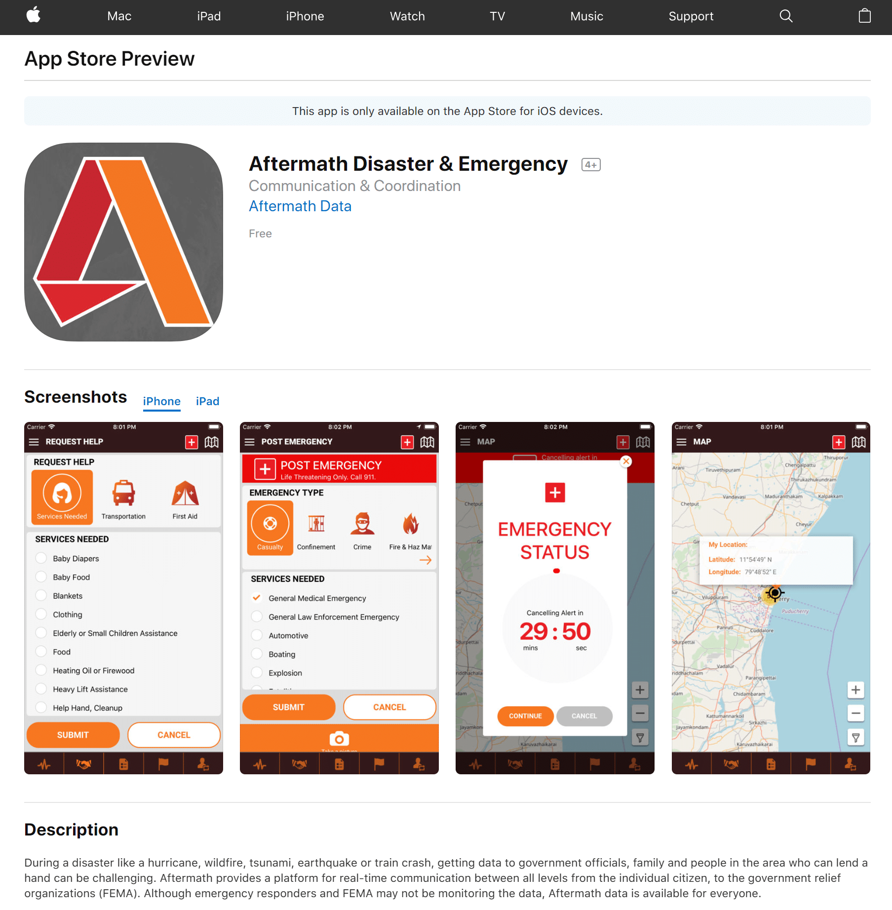 Public Safety Mobile App  Daily emergencies & disasters