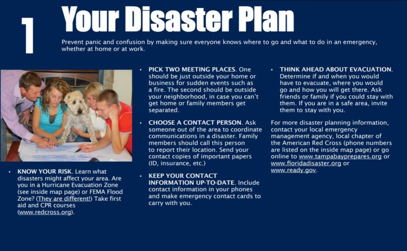 Disaster Preparedness - 1 Know your plan