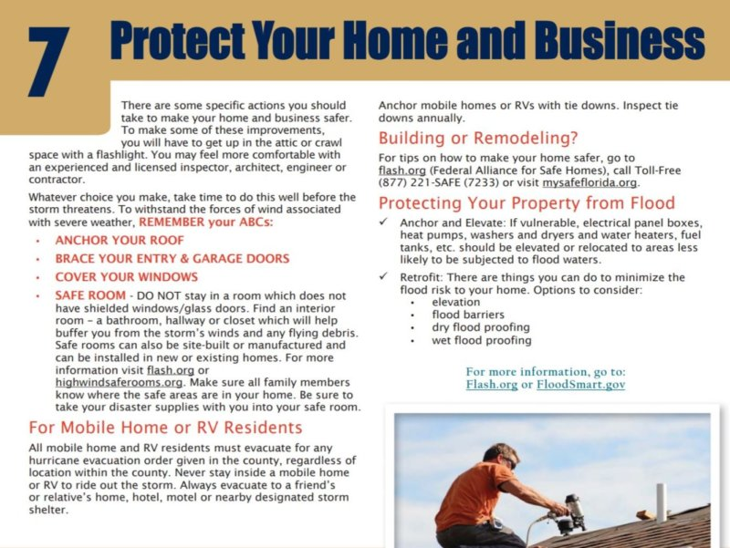 Disaster Preparedness - 7 Protech Property
