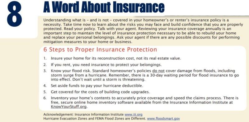 Disaster Preparedness - 8 Proper Insurance