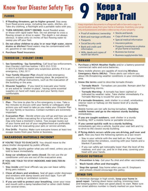 Disaster Preparedness - 9 Keep A Paper Trail